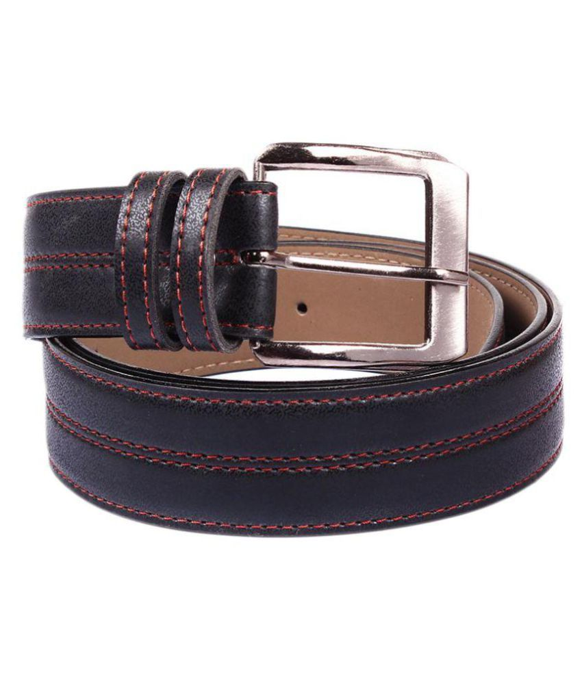 Oodi Black Faux Leather Casual Belts