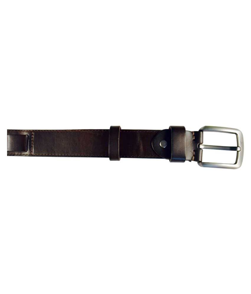 Zeba Corp Brown Leather Casual Belts