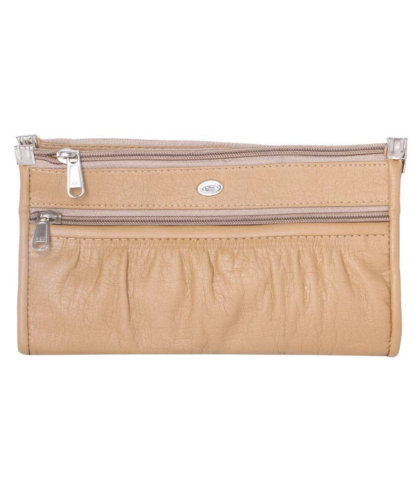 Impress Purse Beige Fabric Box Clutch