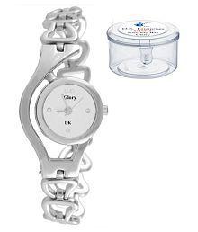 Glory Silver Metallic Analog Watch for Women (Free Mini Plastic Jewellery Box))