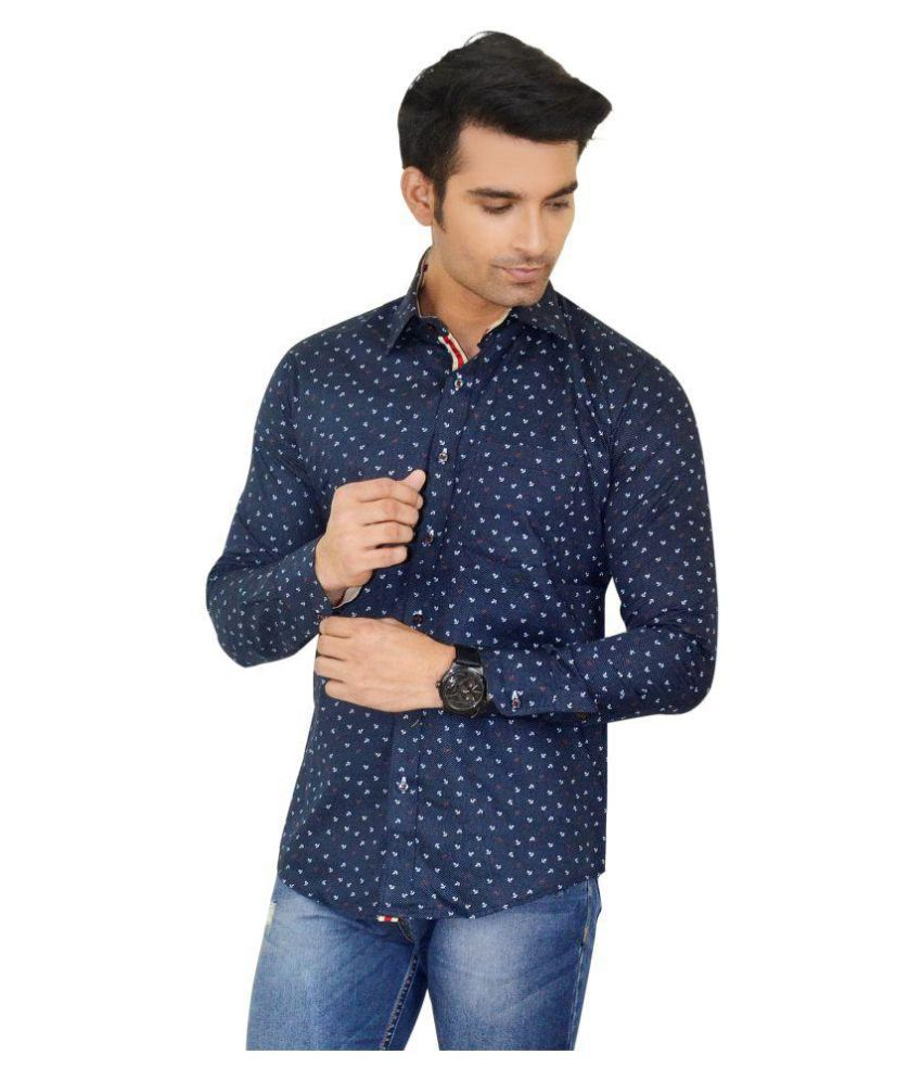 Big Brother Blue Casuals Slim Fit Shirt