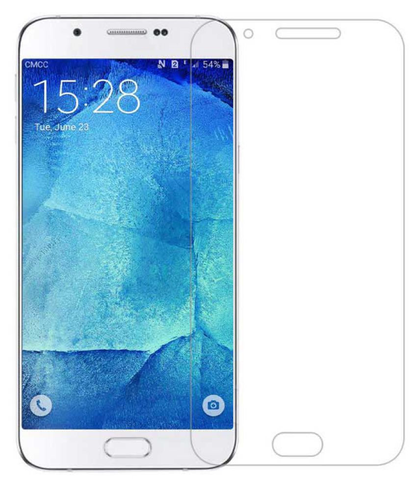 Samsung Galaxy A8 Tempered Glass Screen Guard By THE LUCKY ONES