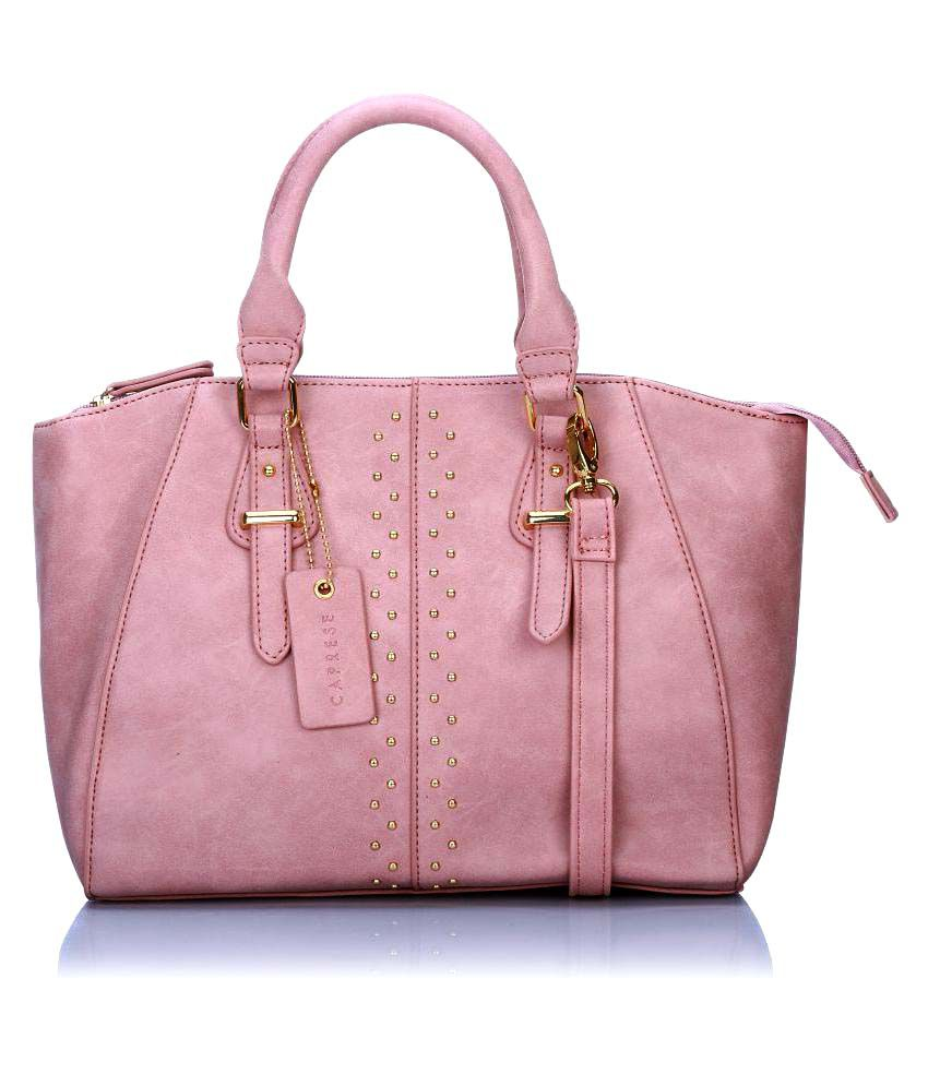 Caprese Pink Faux Leather Handheld