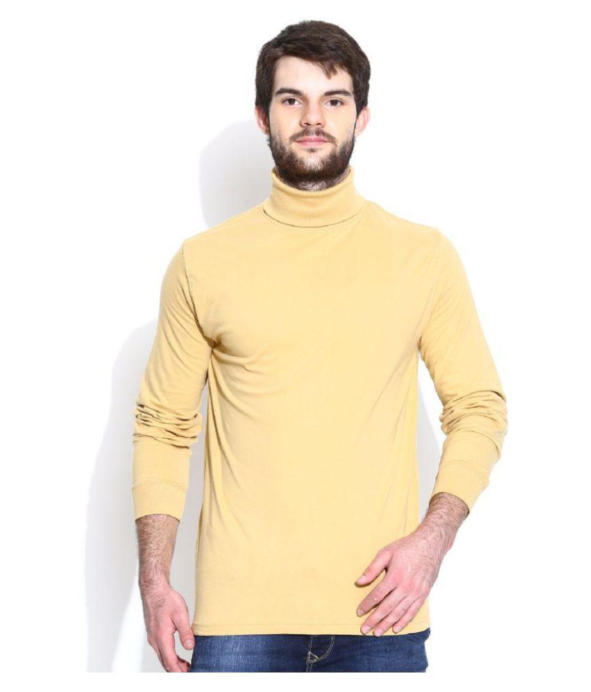 Dream of Glory Inc. Beige High Neck T-Shirt