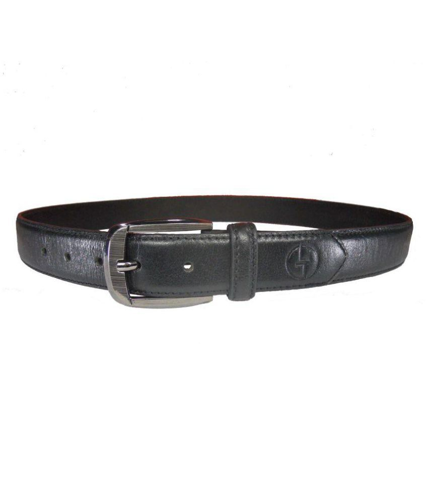 Leather Touch Black Leather Formal Belts