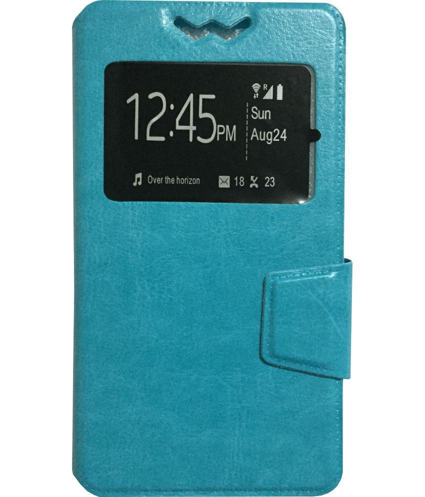 Micromax Bolt Q335 Flip Cover by Lomoza - Blue