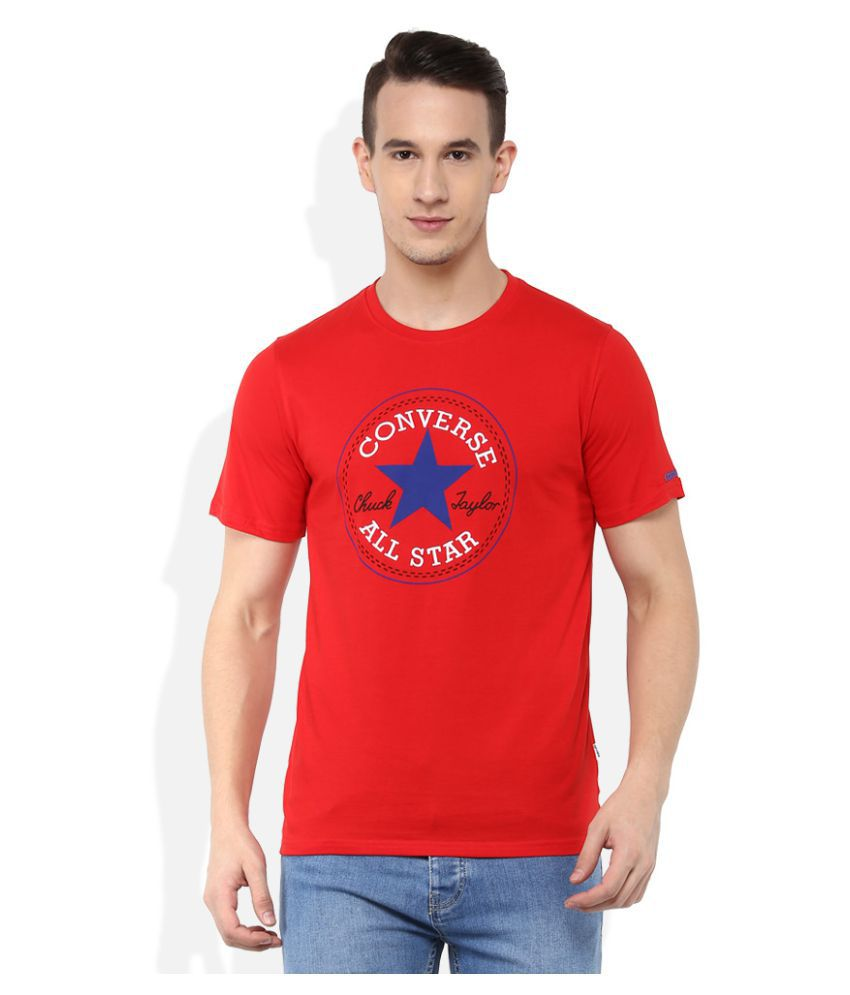 Converse Red Round T-Shirt