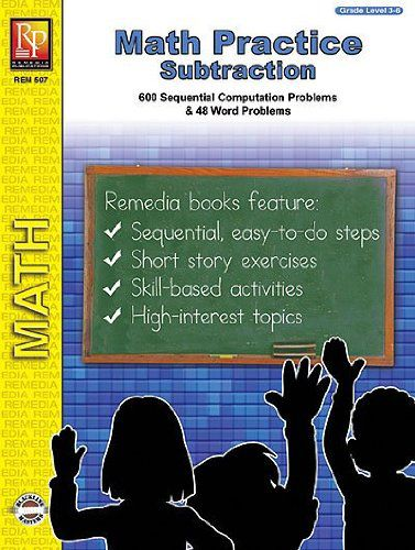 Remedia Publications 507 Math Practice Subtraction kids educational playing toy