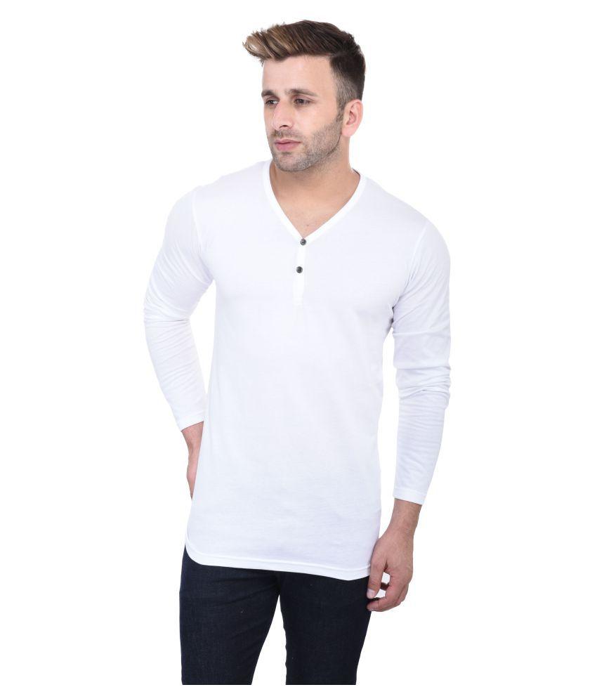 FastColors White V-Neck T-Shirt