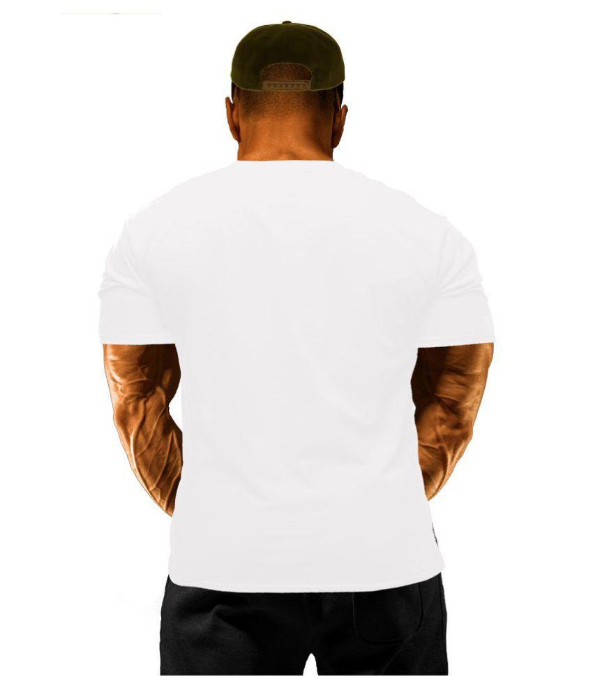 UCL White Round T-Shirt