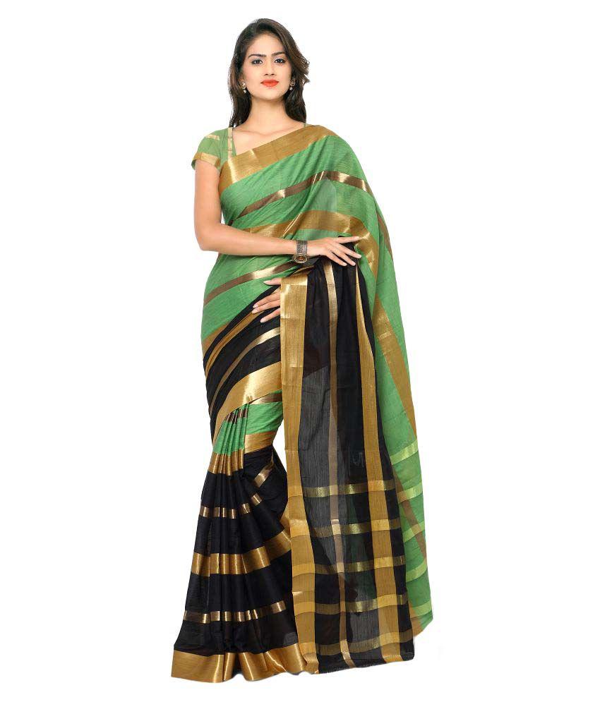 Rajesh Silk Mills Multicoloured Cotton Silk Saree