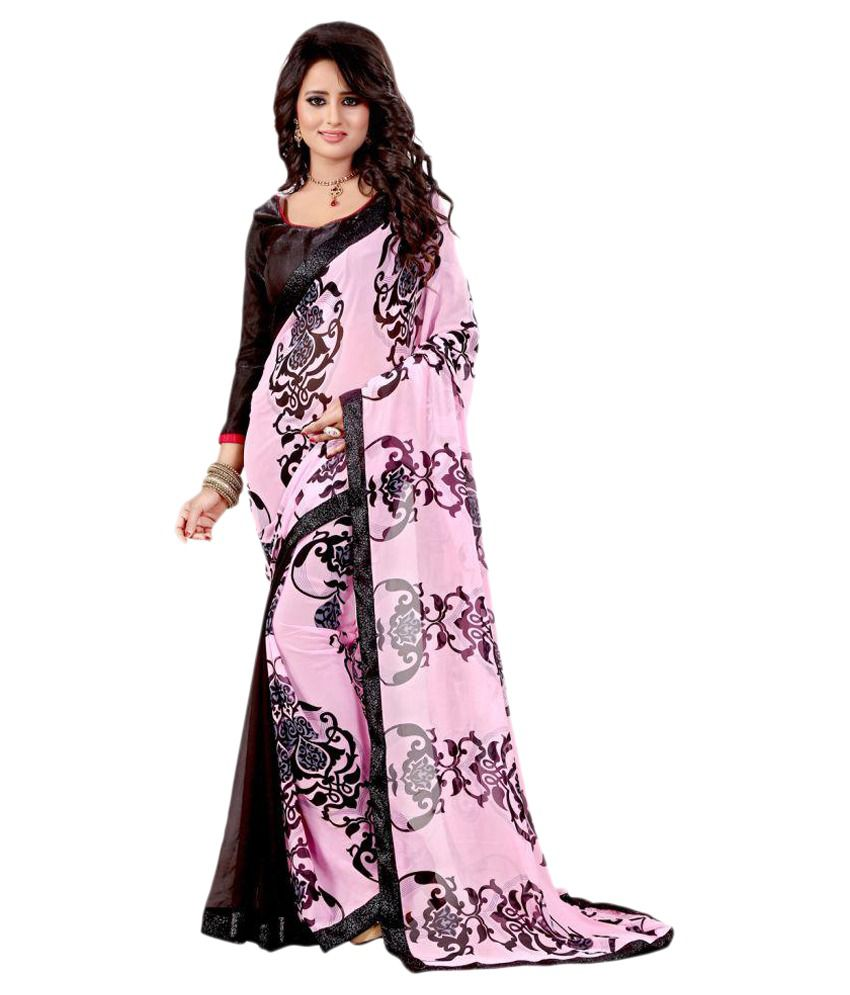 Glamorous Multicoloured Georgette Saree