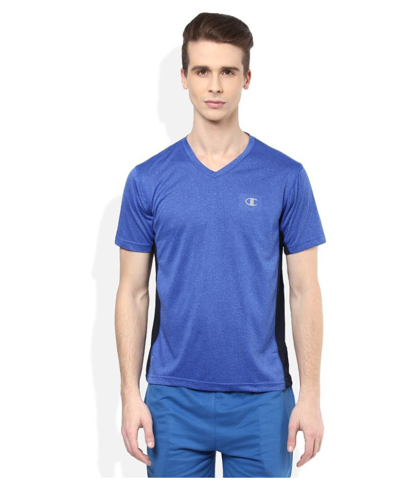 Champion Blue Polyester T-Shirt Single Pack