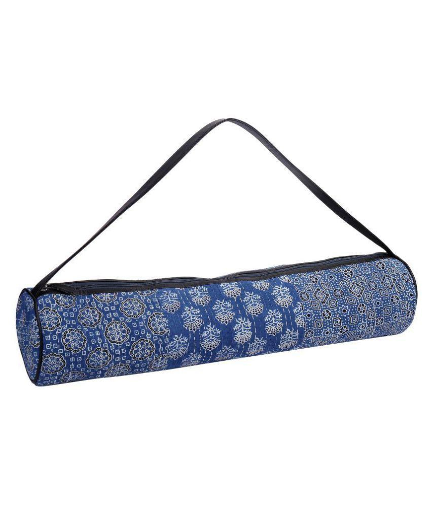 70950cf7f9 Jaipurse Yoga Mat Bag Blue Cotton Printed Light Weight Exercise Women Yoga  Mat Bag - Fits Large Size Yoga Mats  Buy Online at Best Price on Snapdeal