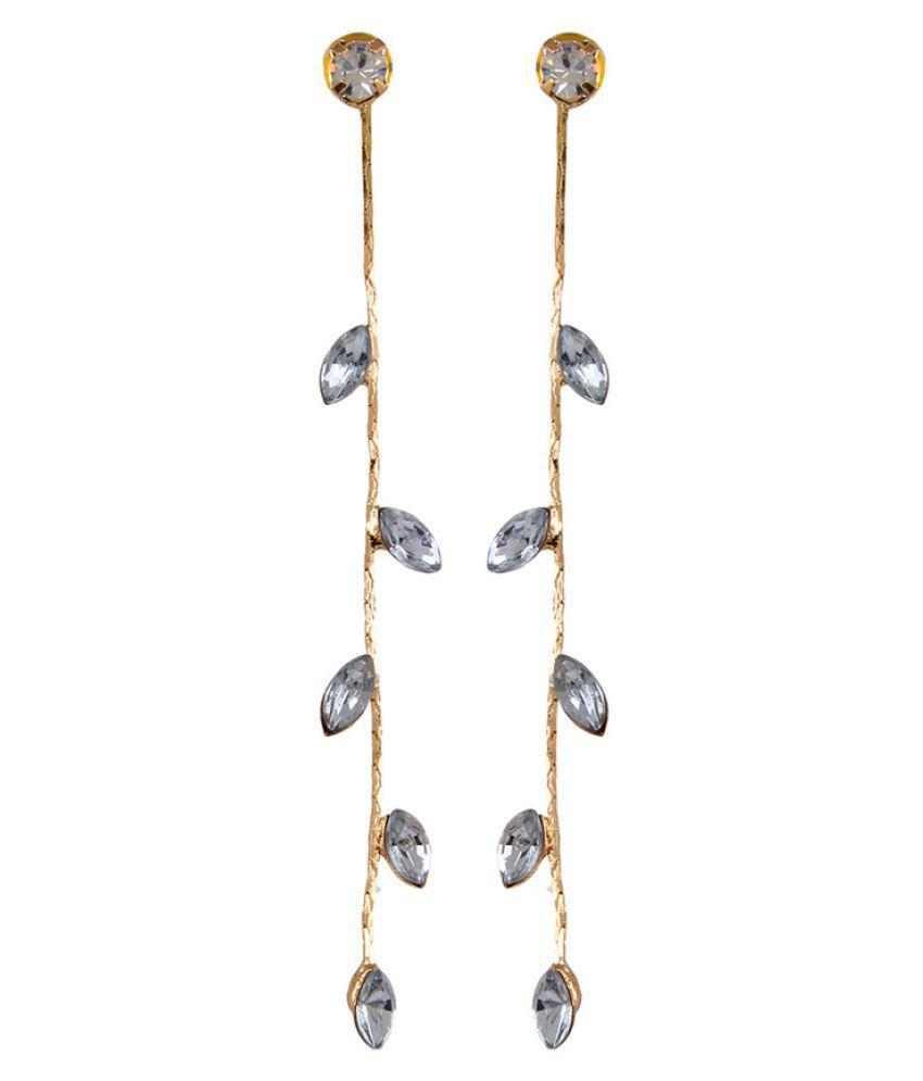Fabula's Multi Color  Zircon American Diamond AD CZ  Drop Earrings