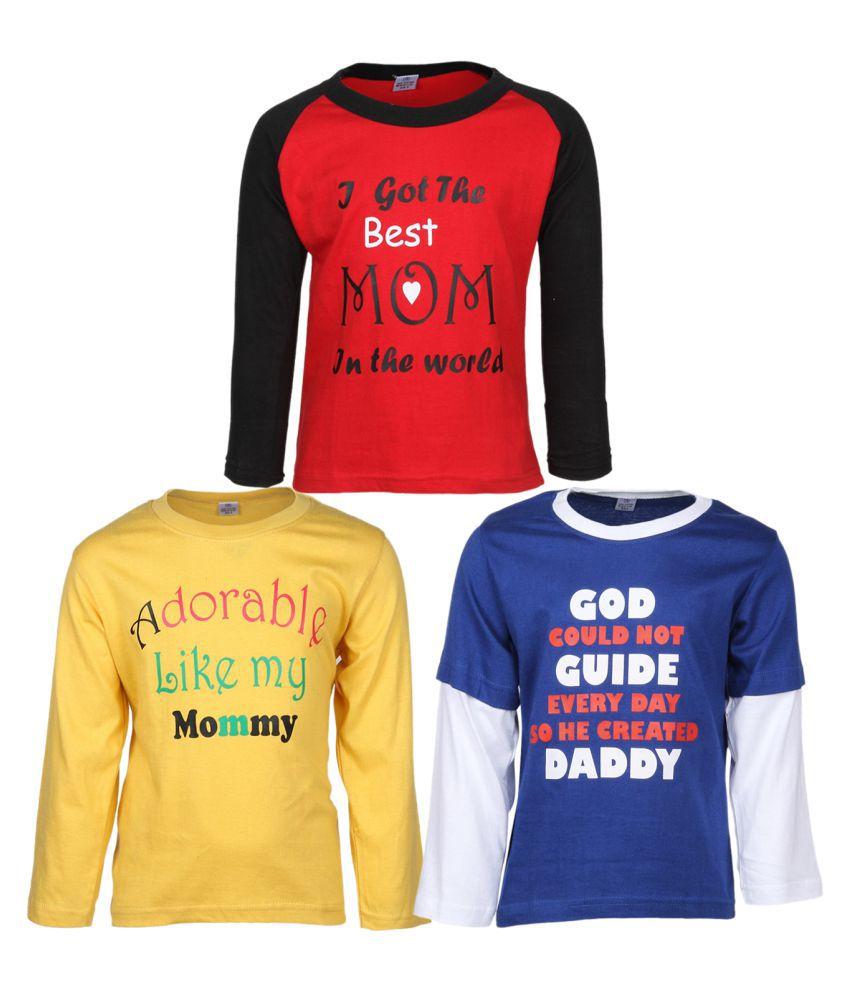 Goodway Multicolour Cotton T-Shirt - Set of 3