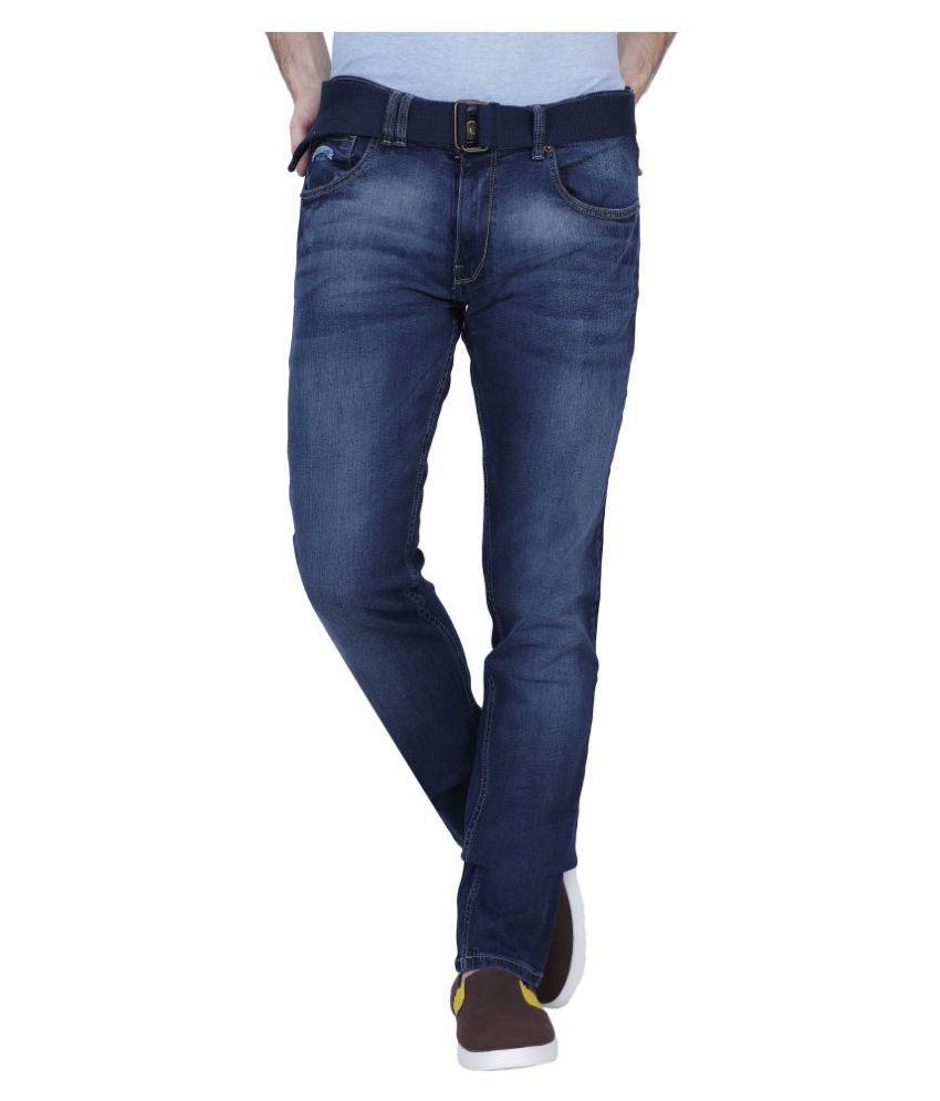 Smug Jeans Navy Blue Slim Faded