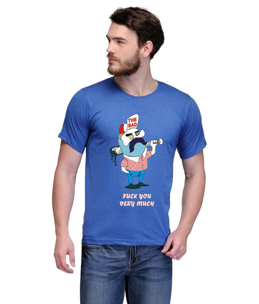 Reflete Blue Round T-Shirt