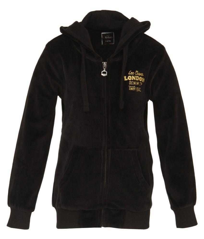 Lee Cooper Black Zippered Sweatshirt