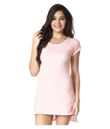 MystereParis Pink Poly Cotton T-Shirts