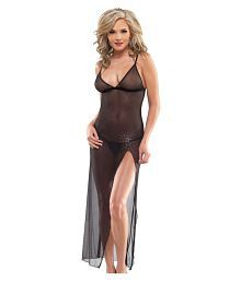 D Naked Net Baby Doll Dresses With Panty
