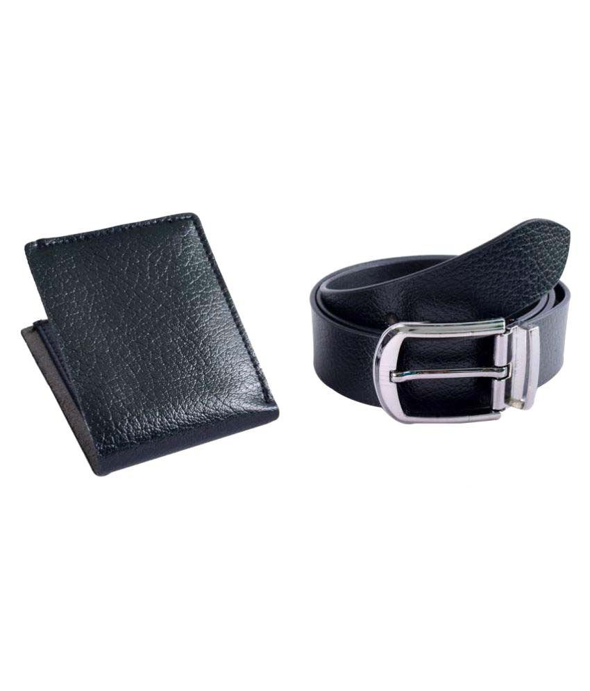Kern Black Leather Casual Belts