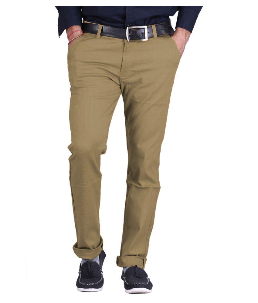 Van Galis Green Regular Flat Trouser