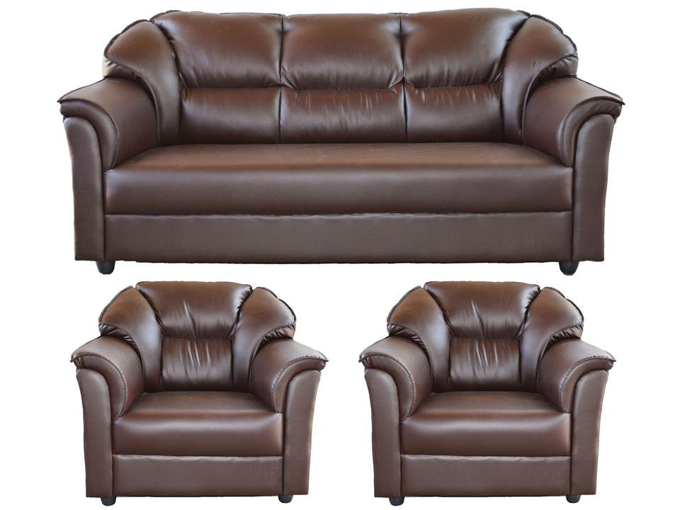 westido manhattan brown 3 1 1 seater sofa set buy. Black Bedroom Furniture Sets. Home Design Ideas