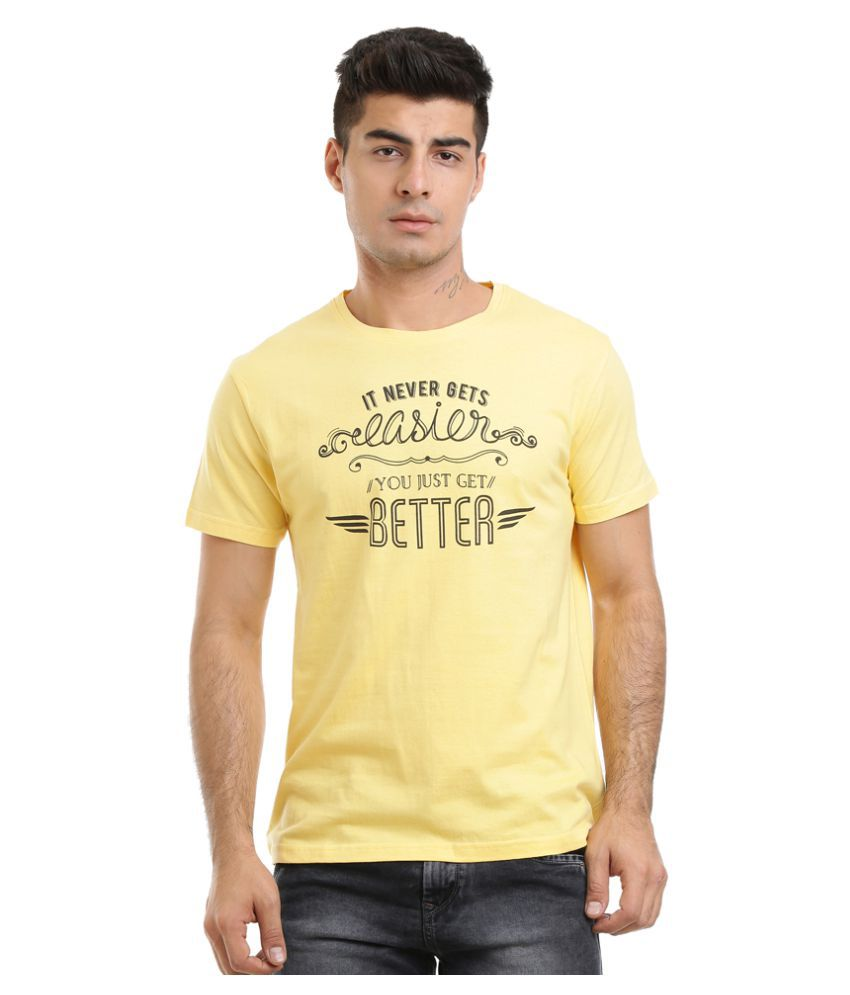 HW Yellow Round T-Shirt