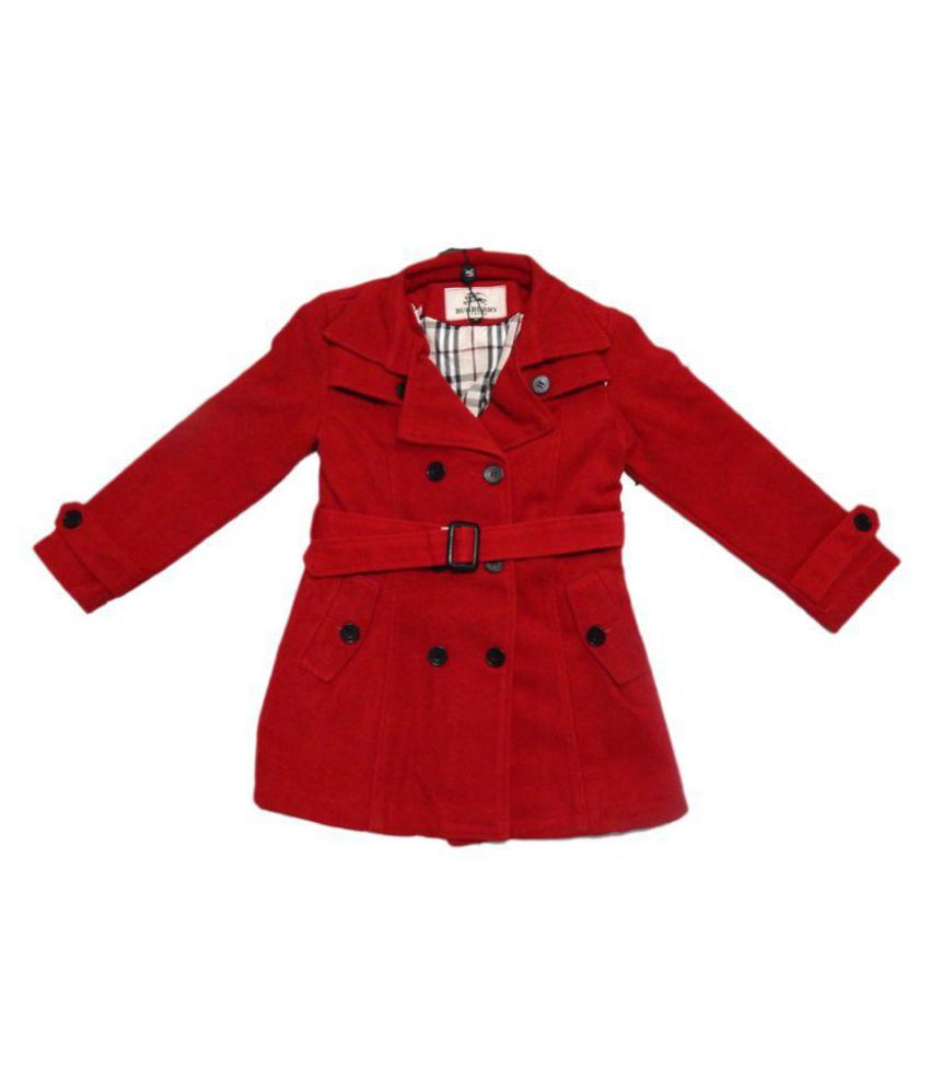 Burberry Kids Red Warm Coats