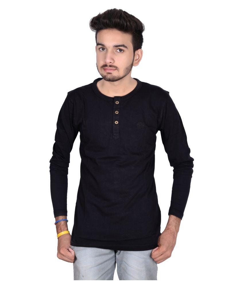 Decot Paradise Black Henley T-Shirt