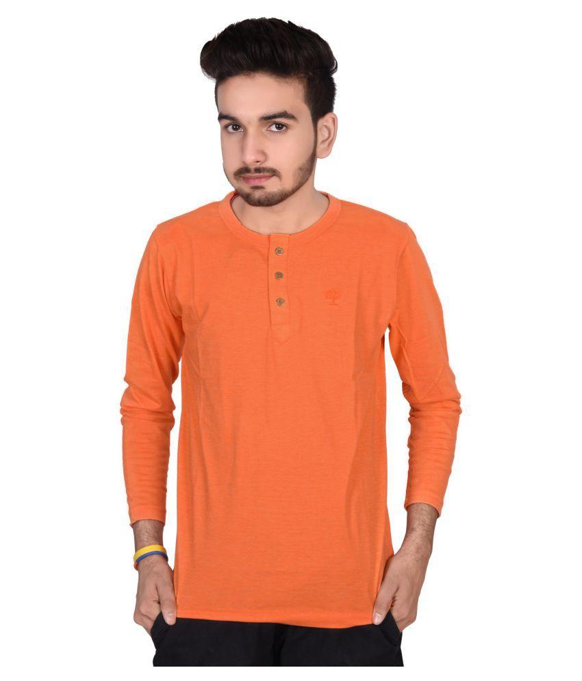 Decot Paradise Orange Henley T-Shirt