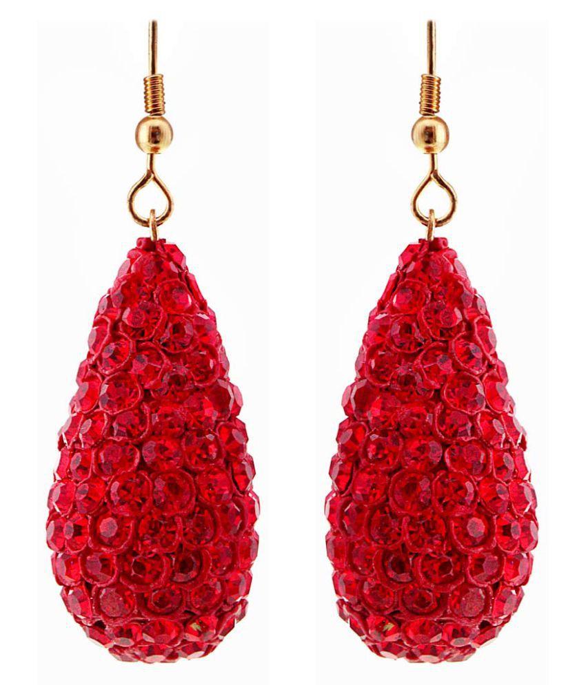 Jaipur Raga Rajasthani Handmade Red Lakh Jhumka Earring Set
