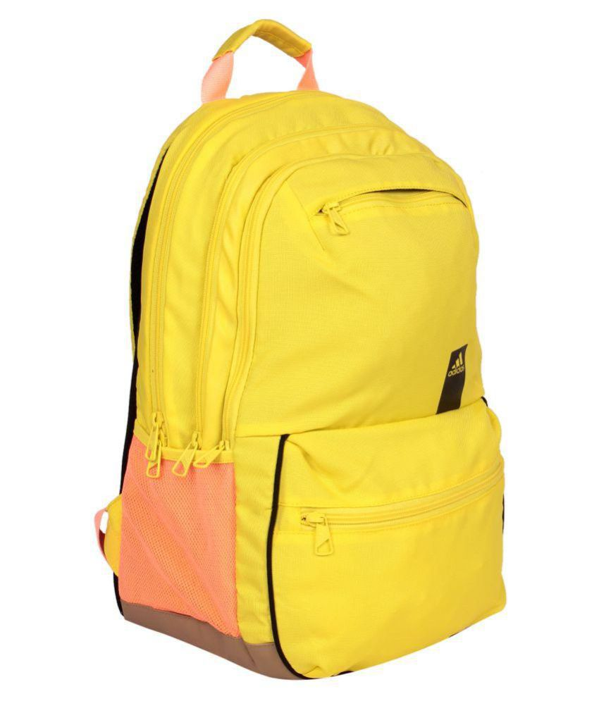 cff39b7188 Adidas Yellow Backpack - Buy Adidas Yellow Backpack Online at Low ...