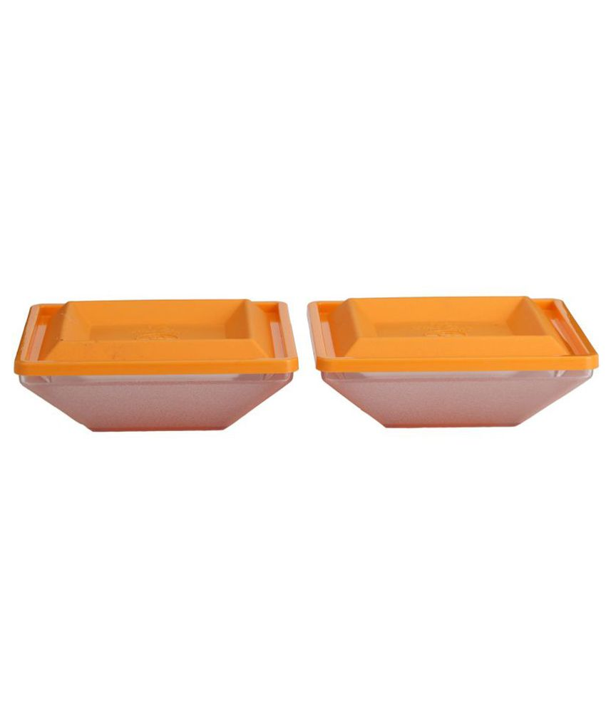 Somil Plastic 00004 Glass Food Container Set of 2