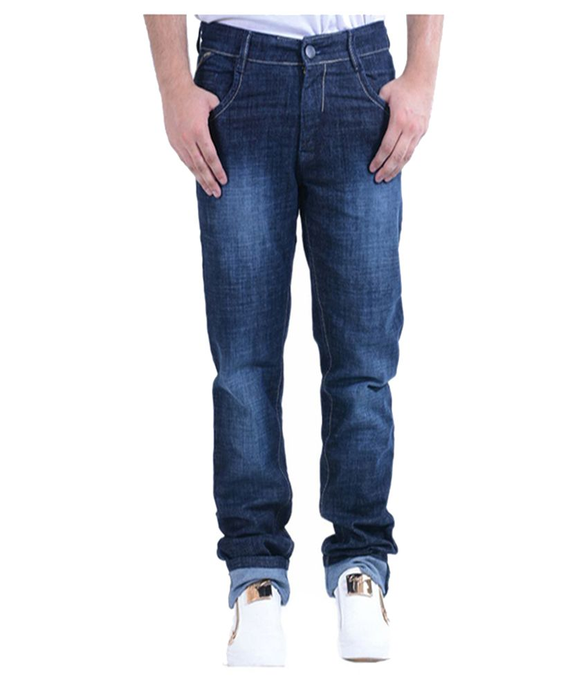 Benzora Black Regular Fit Jeans