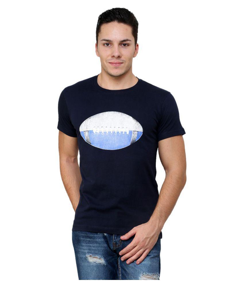 Blotch Black Round T-Shirt