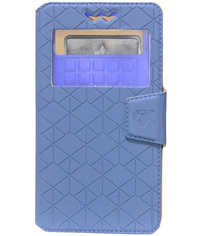 Lava A68 Flip Cover by Jojo - Blue