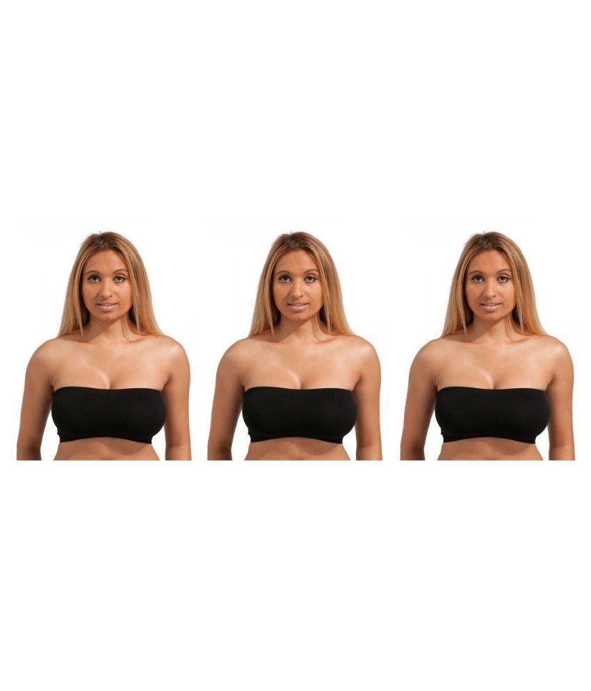 Gopalvilla Black Cotton Lycra T-Shirt/ Seamless Bra