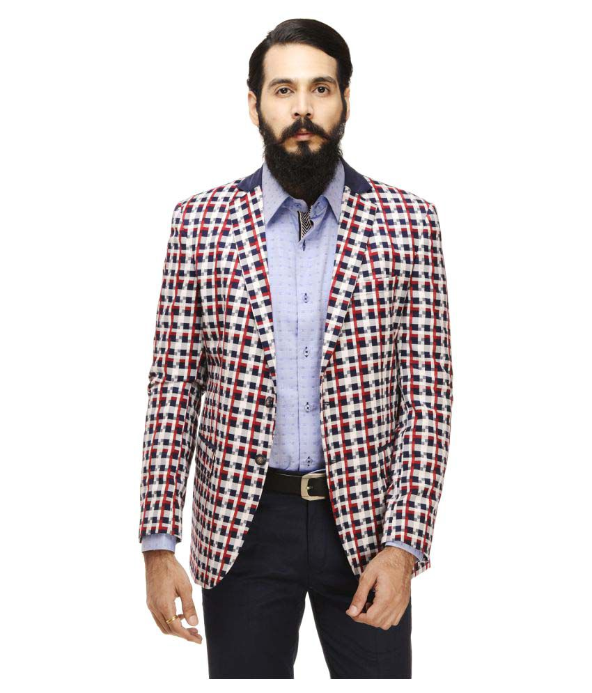 Monteil & Munero Multi Checks Casual Blazers