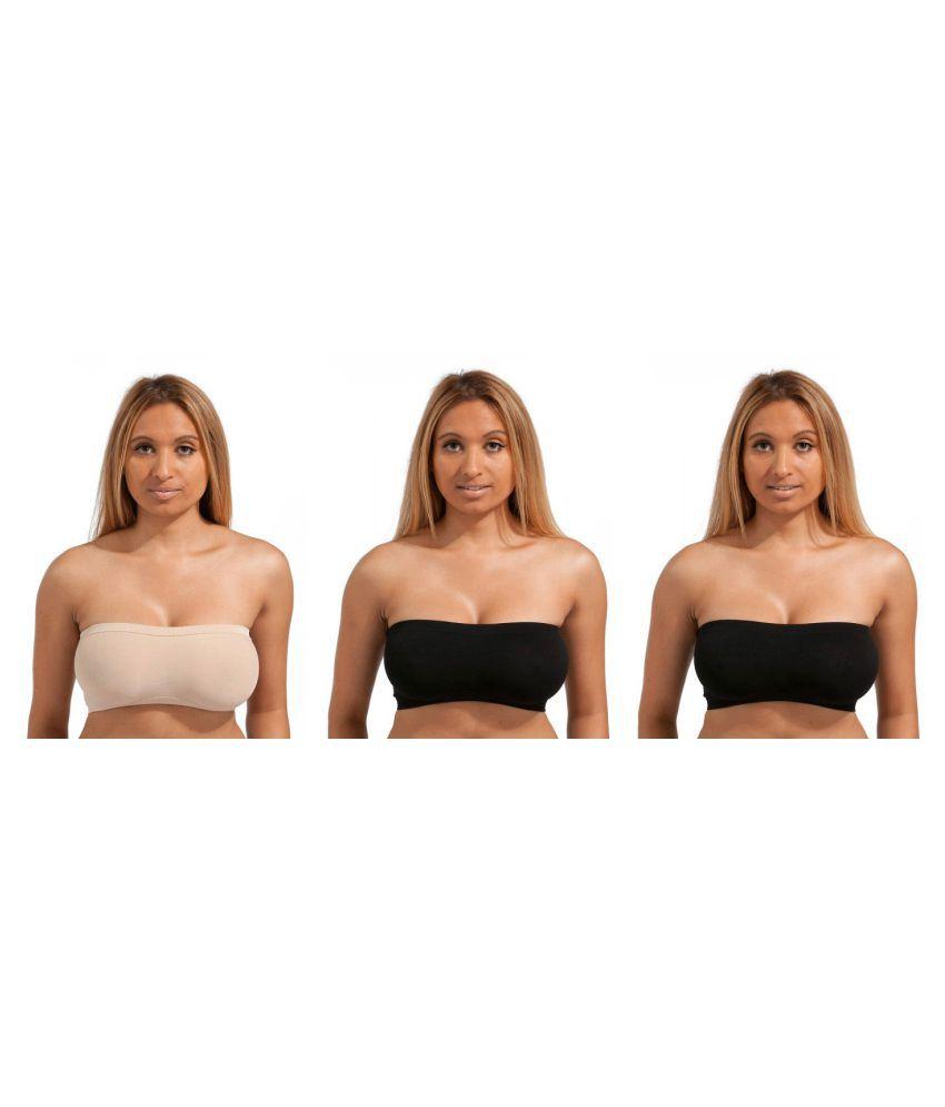 Dealseven Fashion Beige Cotton Lycra T-Shirt/ Seamless Bra