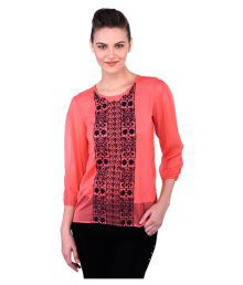 Oxolloxo Pink Polyester Regular Tops