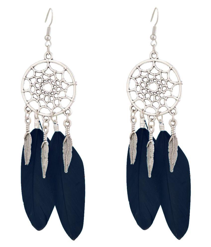 Aaishwarya Dreamcatcher Multicolor Tassel Feather Earrings