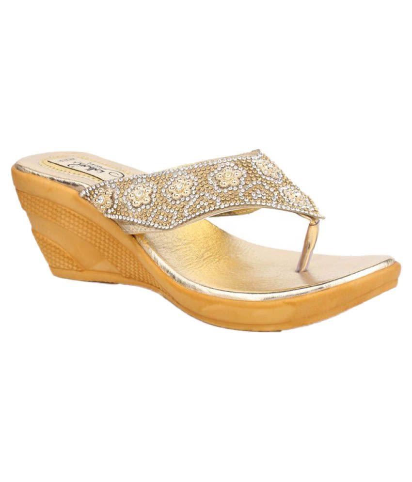 Sindhi Footwear Multi Color Wedges Heels