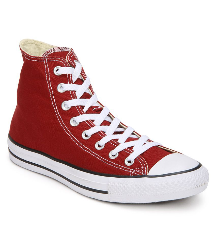 ... Converse All Star 150773CCTHI High Ankle Sneakers Red Casual Shoes ... d8261e9c9