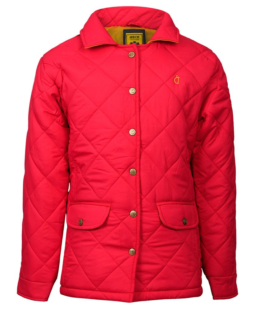 Gini & Jony Pink Solid Regular Fit Buttoned Jacket