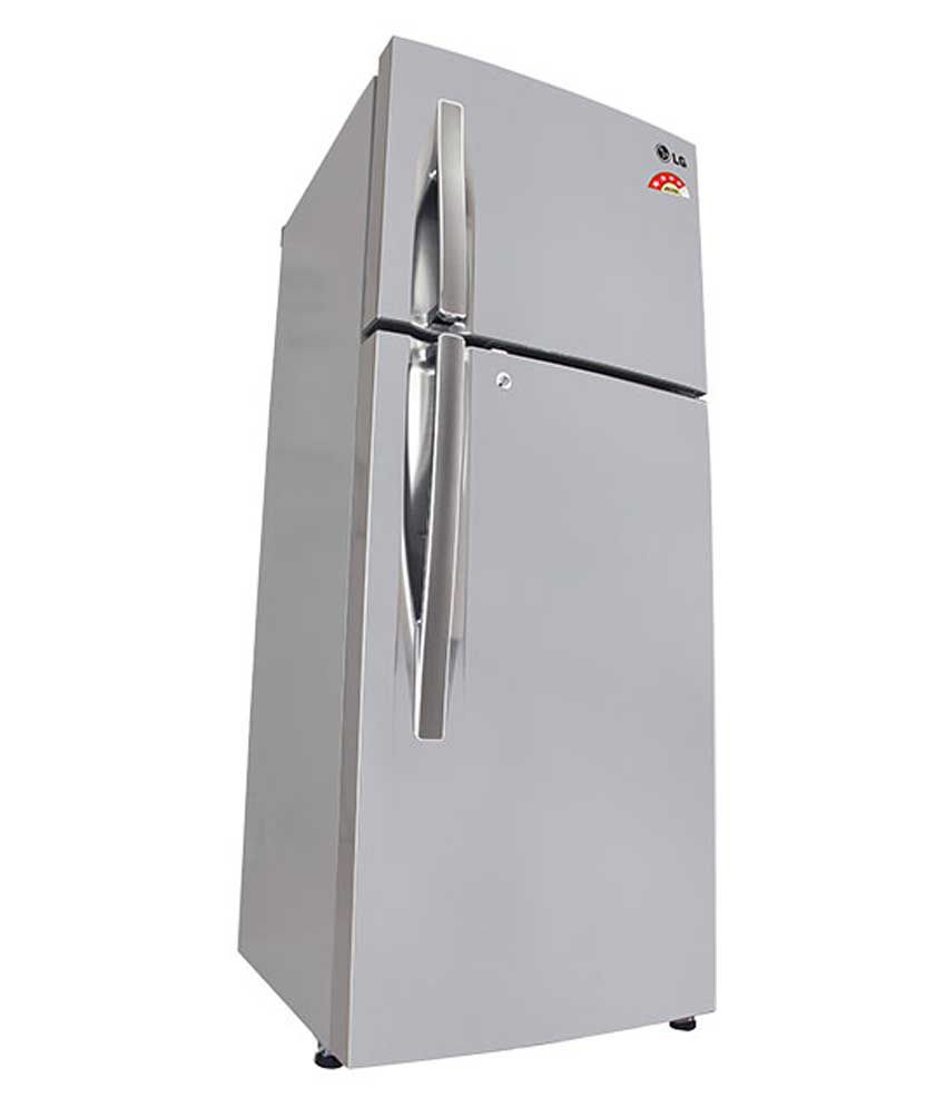 lg 260 ltr 4 star gli292rpzl double door shiny steel