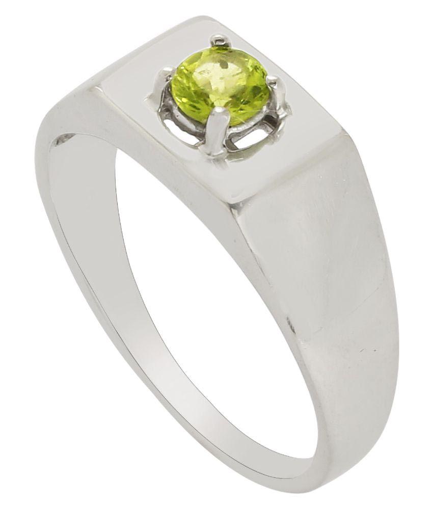 Shine Jewel 92.5 Silver Peridot Ring