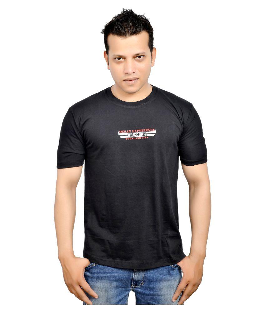Fadoak Black Round T-Shirt