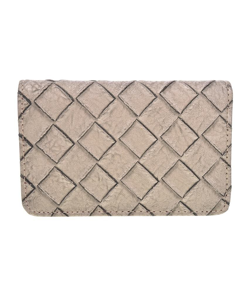 Bebo Fabrics Silver Wallet